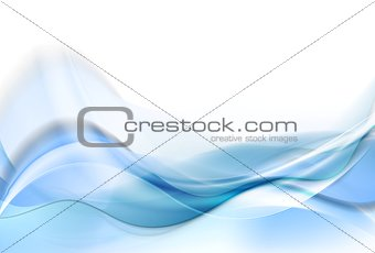 Bright blue smooth waves abstract background