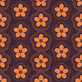 Floral seamless background, vector illustration.