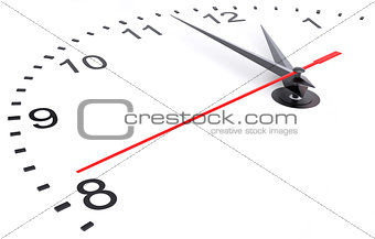 Clock and timestamp with numbers