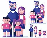 Family Flat Design
