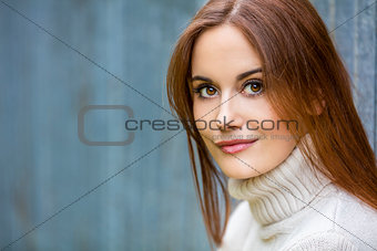 Beautiful Young Woman With Red Hair