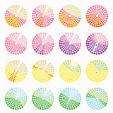 Set circular color different shades is not bright vector illustr