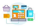 Cash register ocncept illustration