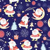 Christmas pattern Santas