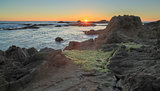 Sunset over Bean Hollow State Beach, Pescadero, California, USA