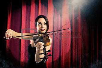 Charming violinist