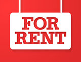 For Rent Banner.