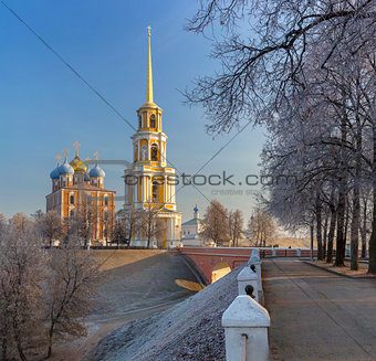 cathedral bell tower of Ryazan kremlin,  XVIII—XIX century, Ru