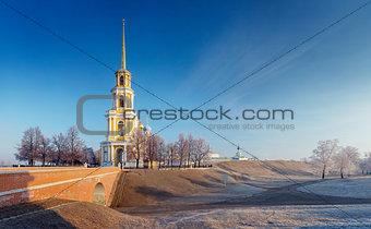 cathedral bell tower of Ryazan kremlin,  XVIII—XIX century, Ru