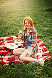 Pin-up Woman at the Picnic