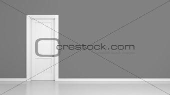 grey wall and door background