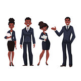 African American businessmen and businesswomen
