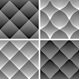 Seamless reticulate patterns set.