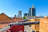 Mobile, Alabama Fort and Skyline