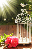 decorative cage with flowers