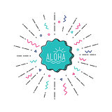 Aloha vector flat illustration