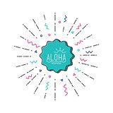 Aloha vector flat illustration
