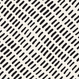 Vector Seamless Hand Drawn Rounded Diagonal Lines Pattern