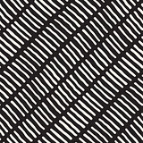 Vector Seamless Black and White Hand Drawn Lines Diagonal Pattern