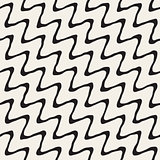 Vector Seamless Hand Drawn Rough Diagonal Wavy Lines Pattern