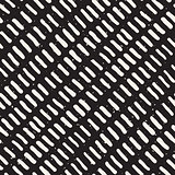 Vector Seamless Hand Drawn Rounded Diagonal Lines Grunge Pattern