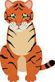 Fun cartoon Illustration of cute Tiger