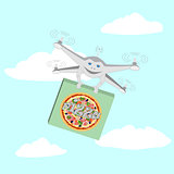 Drone. Air delivery pizza