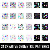 Set of creative geometric patterns. Memphis style. Colorful Abstract