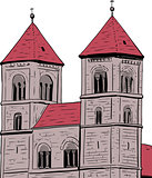 Pair of Towers on Quedlinburg Abbey