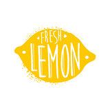 Lemon Name Of Fruit Written In Its Silhouette