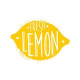 Lemon Name Of Fruit Written In Its Silhouette