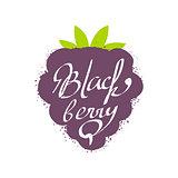Blackberry Name Of Fruit Written In Its Silhouette