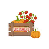 Vegetables In Wooden Crate