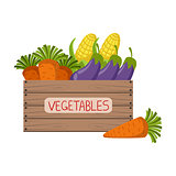 Fresh Vegetables Crate