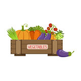 Full Crate Of Fresh Vegetables