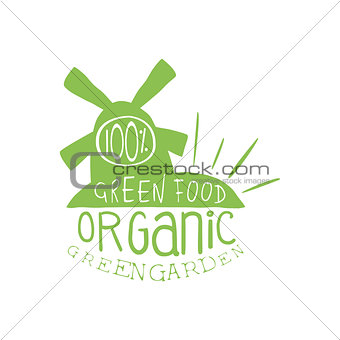 Green Food Vintage Emblem
