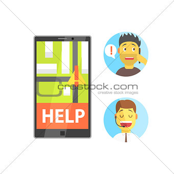 Client And Operator Of Evacuation Service With Smartphone App