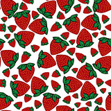Seamless pattern strawberries berries.