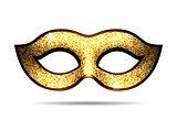 Gold carnival mask