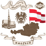 Austria in vintage style