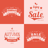 Simple autumn backdrops with sale text.