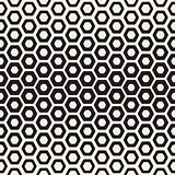 Vector Seamless White And Black Hexagon Halftone HoneyComb Pattern