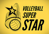 Volleyball super star design