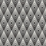 Vector Seamless Rhombus Shape Concentric Lines Geometric Pattern
