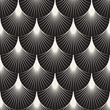 Vector Seamless Sunburst Lines Geometric Pattern