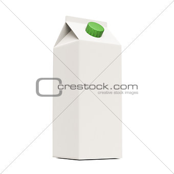blank milk container
