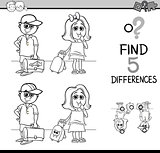 activity of differences coloring book