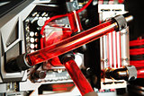 Inside computer water cooling  system closeup