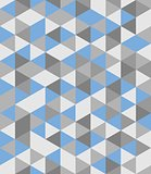 Tile vector background with blue and grey triangle mosaic