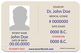 Sample of the patient is identification card